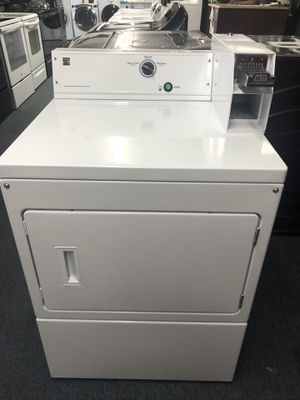 Used kenmore commercial heavy duty coin laundry dryer. 1 year warranty for Sale in St. Petersburg, FL