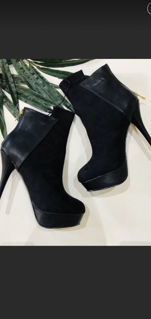 Ankle Bootie Boot with Platform Stiletto Heel Black NWOT. New in box for Sale in Pearland, TX