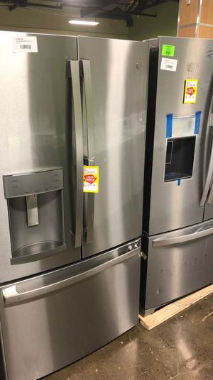 GE 27.8 cu. ft. French Door Refrigerator with Door-in-Door in Fingerprint Resistant Stainless Steel FDHMW for Sale in Fort Worth, TX
