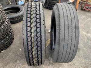 Tires tire 17.5 19.5 22.5 24.5 commercial tires dump truck tractor trailer semi for Sale in West Palm Beach, FL