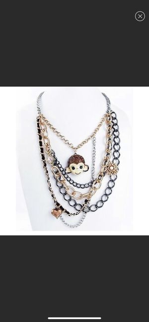 Betsey Johnson Monkey Face Multi-Chain & Charms Necklace Jewelry for Sale in Chiriaco Summit, CA