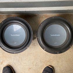 """2 Rocksferd Fosgate 10"""" Sub Woofer for Sale in Buford,  GA"""
