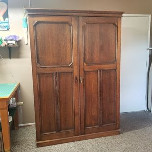 Solid Oak Antique Armoire. for Sale in Riverside, CA
