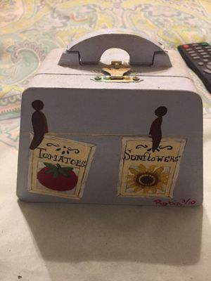"Painted ""seed packets"" box for Sale in Ontario, CA"
