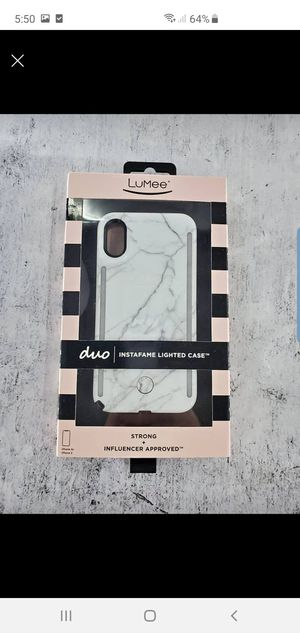 iPhone X/Xs Instafame Lighted Case Front and Back for Sale in Oakland, CA