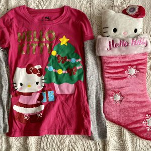 Awesome Hello Kitty Christmas 🎄 Blouse And Stocking ⛄️🎅🏼! for Sale in Worth, IL
