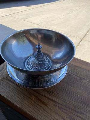 Decorative stainless plate and bowl for Sale in Glendale, AZ