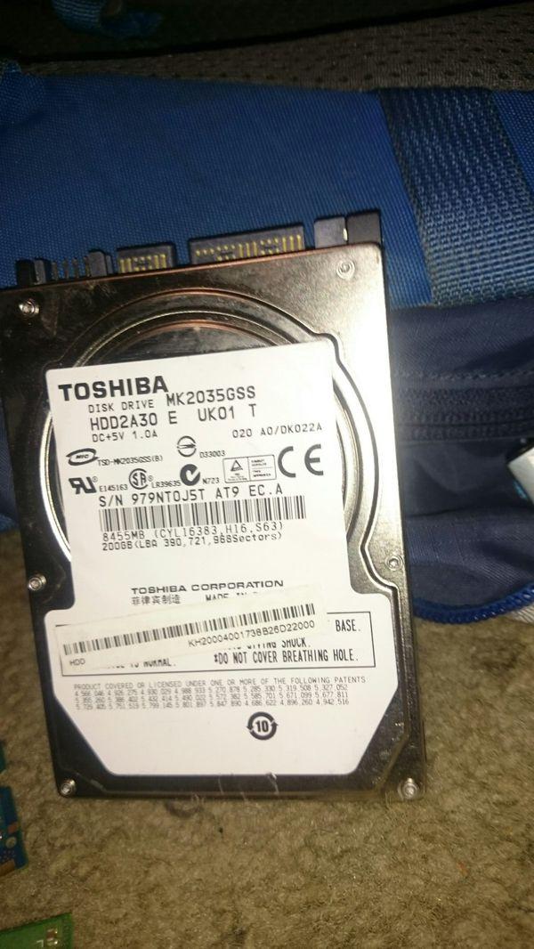 Toshiba 200 gig laptop hard drive