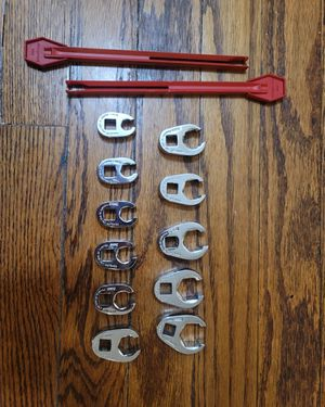 """SNAP ON 10 PC 3/8"""" Drive 6PT METRIC FLARE NUT CROWFOOT SET (10-19mm) 210FRHMA for Sale in South Riding, VA"""