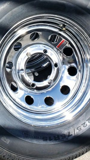 4 new wheels &tires trailer st225 75r15 $500 for Sale in Escondido, CA