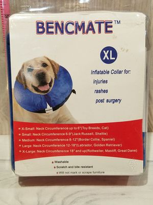 """@CHV INFLATABLE DOG COLLAR EXTRA LARGE XL 18"""" & UP INCHES NECK CIRCUMFERENCE FOR SURGERIES AFTER CARE RASHES INJURIES #52 for Sale in Santa Clarita, CA"""