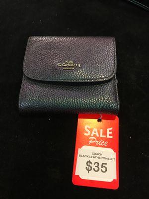 Coach Black Leather Wallet for Sale in San Antonio, TX