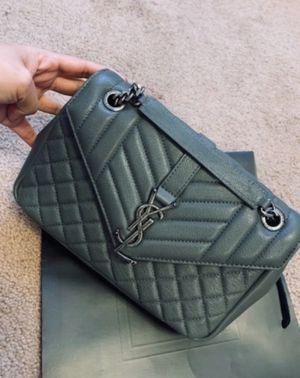 YSL Gray and Silver Crossbody Handbag for Sale in Yuma, AZ