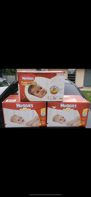 Huggies diapers size 1 for Sale in Pompano Beach, FL