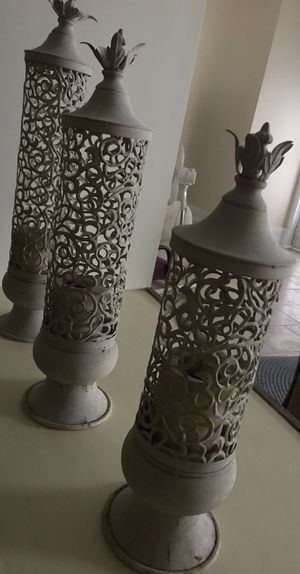 Candle holders set of three for Sale in Goose Creek, SC
