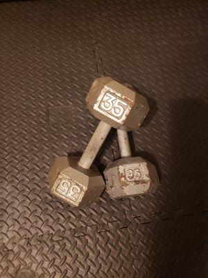 Dumbells 35lb each for Sale in Gresham, OR