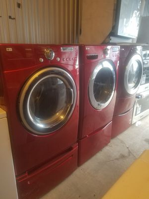Washer and electric dryer lg for Sale in Fort Washington, MD
