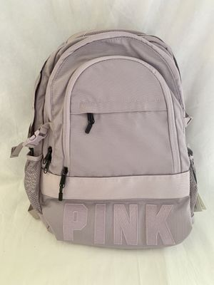 NWT VS Pink Backpack Collegiate Zip Pockets Bag. for Sale in CHAMPIONS GT, FL