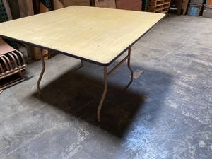 "48"" square plywood folding / game / card table - NEW- 3 tables available for Sale in Ontario, CA"