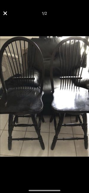 Distressed Black Bar stools for Sale in Dallas, TX
