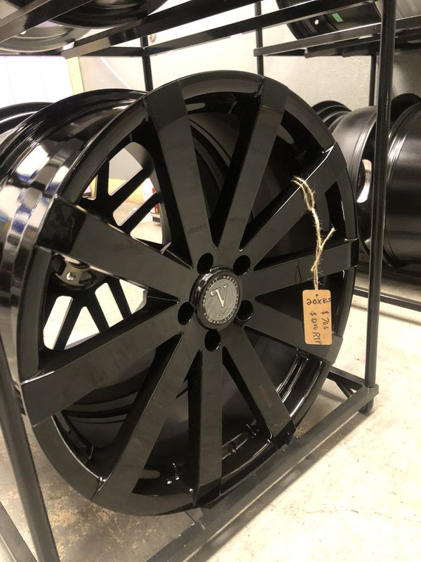 BRAND NEW set (4) Gloss Black 20 inch Rims for only $700!!!