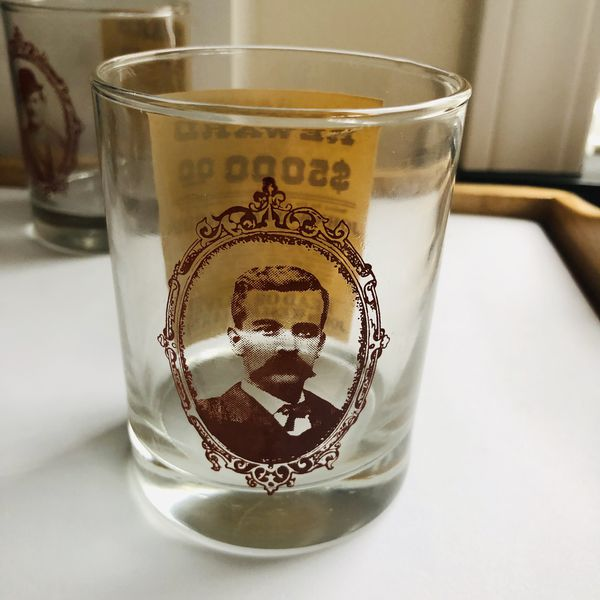 Set of 4 Old West Collectible Water Glasses