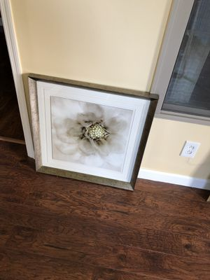 Framed glass flower panted picture for Sale in Smyrna, TN