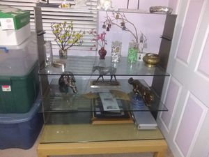 Glass two-sided display shelf for Sale in Moreno Valley, CA