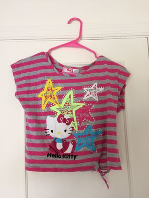 Girls Hello Kitty Pink Striped Shirt for Sale in Tampa, FL