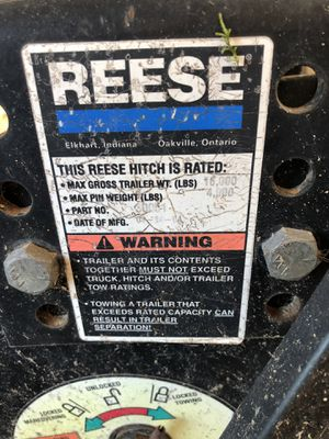 REESE 5th wheel slide hitch 15 Tons for Sale in Sandston, VA