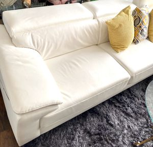 Ashley design white sectional couch for sale for Sale in Pompano Beach, FL