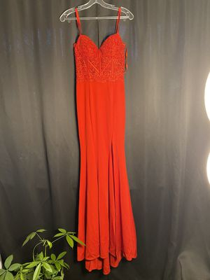Red prom dress , ball gown, wedding dress . Size XS, fits as a small , corset waist for Sale in San Diego, CA