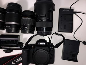 Canon 77D with Lenses for Sale in Milpitas, CA