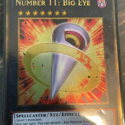 Number 11: Big Eye Holographic Card for Sale in Sebring,  FL
