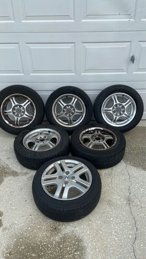 After market Rims set of 5 for Honda Fit and 1 OEM spare for Sale in Orlando, FL