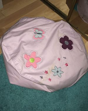 Light Purple Bean Bag with Flowers for Sale in West Springfield, VA