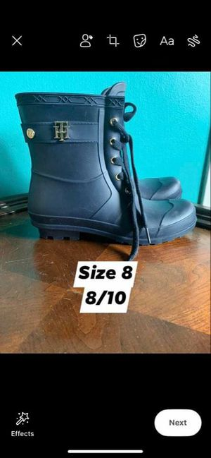 Tommy Hilfiger rain boot for Sale in Dallas, TX