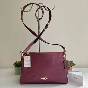 Brand New 🎁 💝 with Tag Authentic COACH Mia Crossbody Bag - Metallic Berry for Sale in Chicago, IL