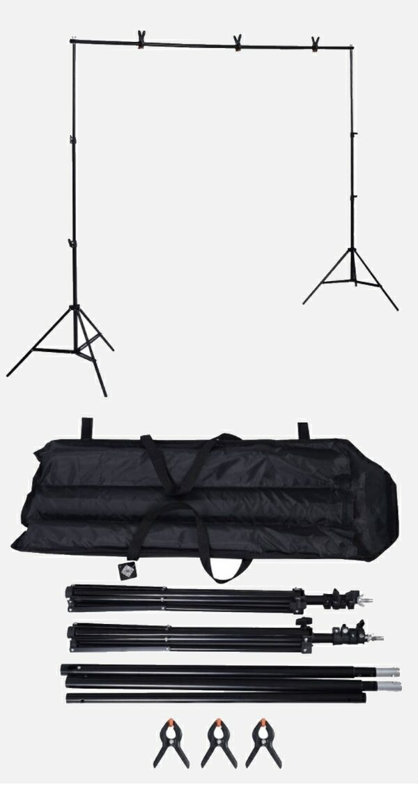 New in box max 10x7 Feet height and width Adjustable Backdrop Frame Kit Banner Stand Includes 3 Clamps and Carrying Bag