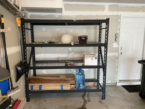 Husky Black Heavy Duty 4-Tier Steel Garage Storage Shelving Unit for Sale in Silver Spring, MD