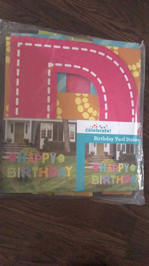 Birthday yard stakes for Sale in Elgin, IL