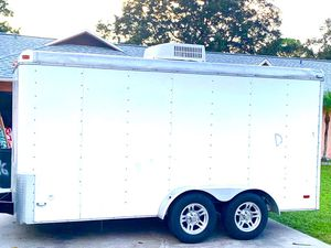 Enclosed trailer with A/C Unit and Reverse Camera Integrated for Sale in Bradenton, FL