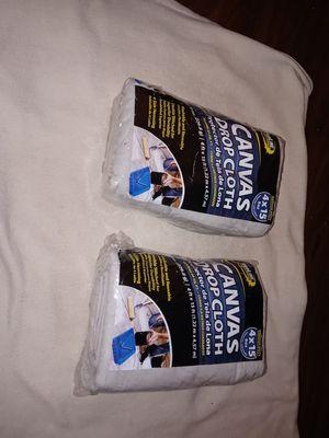 Proline 4 x 15 Medium Duty Canvas Drop Cloth for Sale in Forest Park, GA