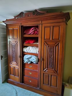Lovely And Useful Antique armoire for Sale in Glen Ridge,  NJ