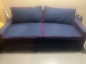 Blue and Red Love Seat Sleeper for Sale in San Diego, CA