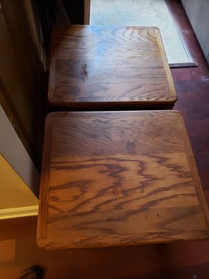 Solid oak end tables/ night stands for Sale in Midlothian, VA