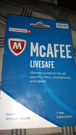 McAfee LIVESAFE for Sale in Indianapolis, IN