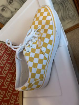 Checkered vans - only worn once for Sale in Alameda, CA
