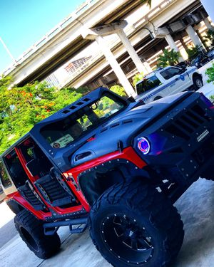 Jeep Wrangler side steps smittybilt n-fab for Sale in Miami, FL