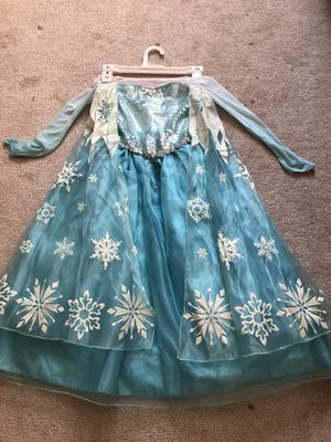 Stunning Frozen Elsa costume and braid with tiara for Sale in North Olmsted, OH